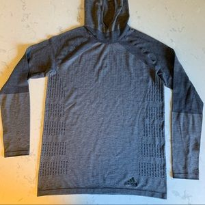 Adidas Running Gray Pull over Hoodie (L)
